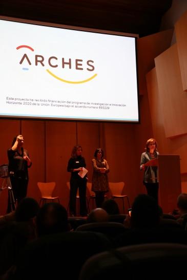 Foto de la presentación ARCHES del 4 de diciembre. Bienvenida de Elena Hernando, directora del Museo Lázaro Galdiano.
