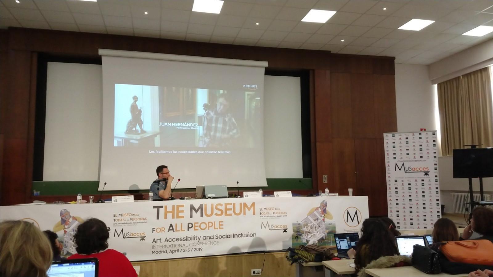 Fotorgafía de la ponencia Museos para todos a nivel europeo