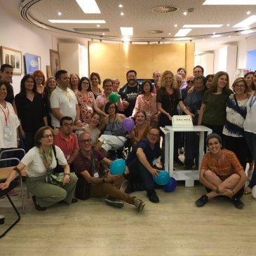 Foto de grupo del Grupo ARCHES Madrid en el taller del Museo Thyssen-Bornemisza.