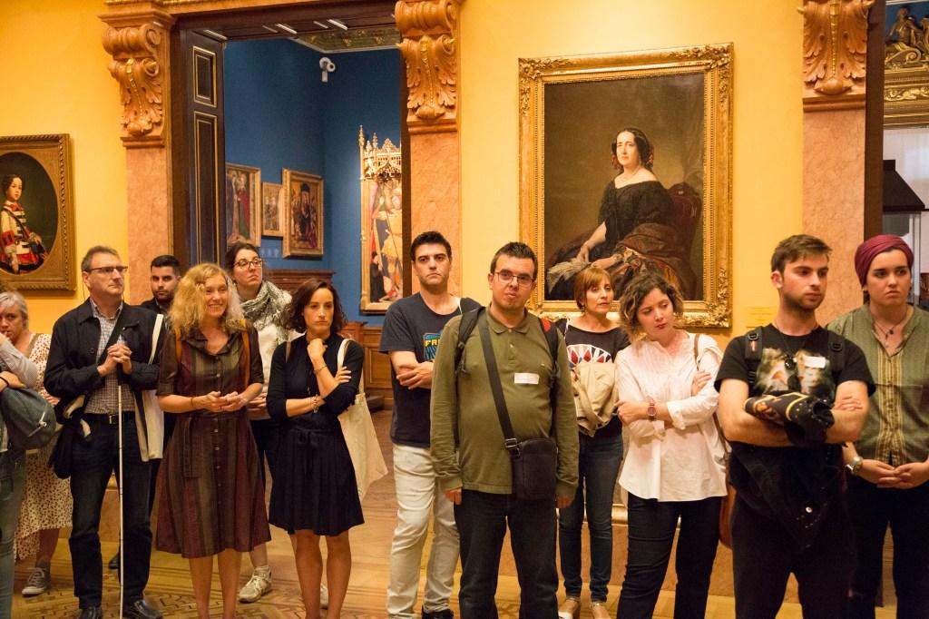 Participantes en la visita inclusiva al Museo Lázaro Galdiano